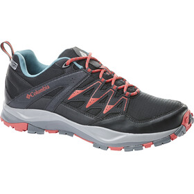 Columbia Wayfinder Outdry Shoes Women Black/Red Coral